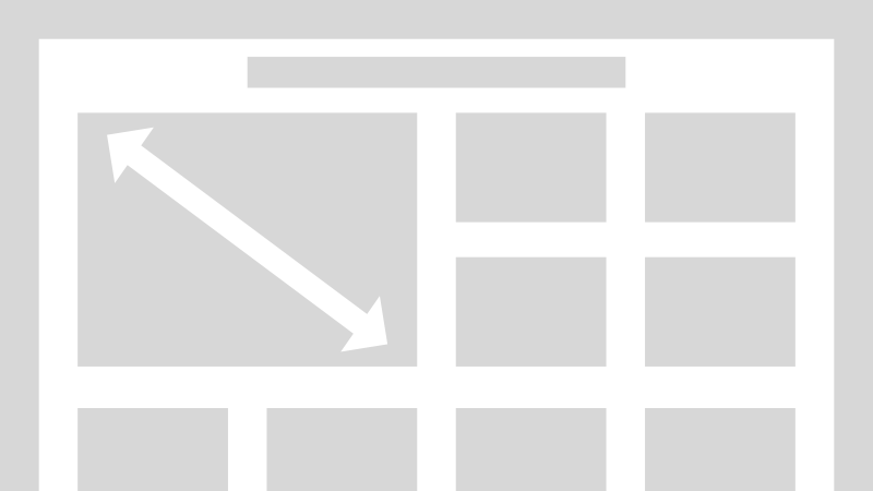 A wireframe of a website highlighting the aspect r