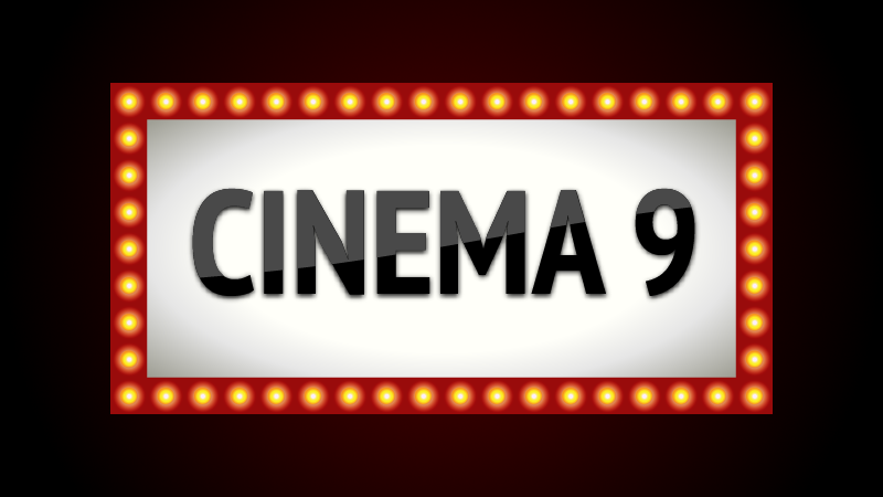 Logo for Cinema 9 mockup website